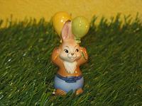 Goebel Hase  #545  Minihase  Nur für Dich    Hasenjunge mit Luftballons