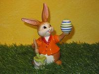 Goebel Hase  #600  Kleine Malerin  -  beim Ei Bemalen