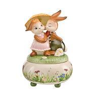 Goebel Hase  #673  Frühlingsregen - Spieluhr