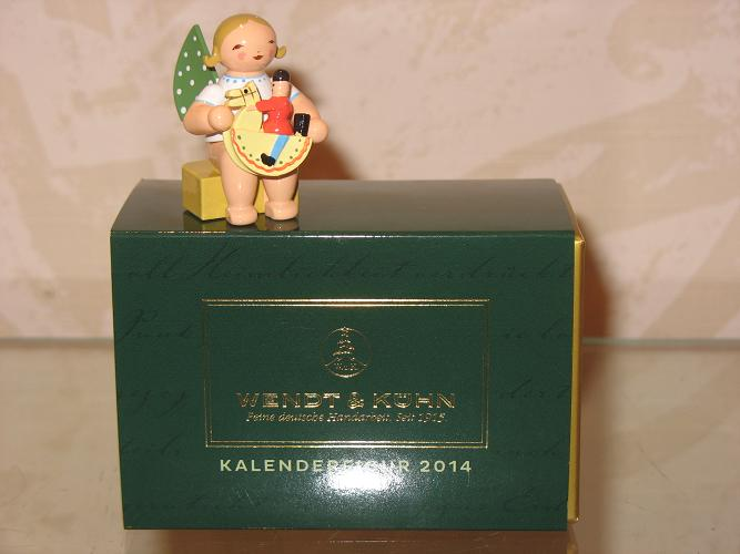 Kalender 2014 Figur: Engel klein, sitzend, mit ...