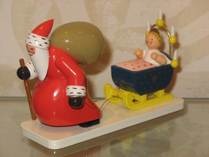 weihnachtsmann m schlitten und engel wendt k hn. Black Bedroom Furniture Sets. Home Design Ideas